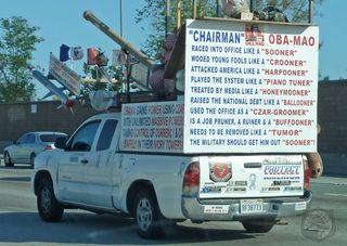 Epic anti-obama truck