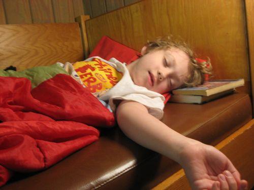 Asleep - no, really.