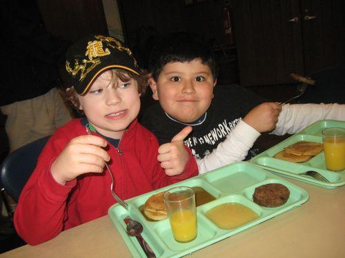 Max & Jorge @ breakfast